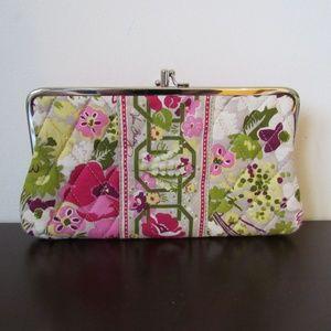 **Vera Bradley pink and green wallet**
